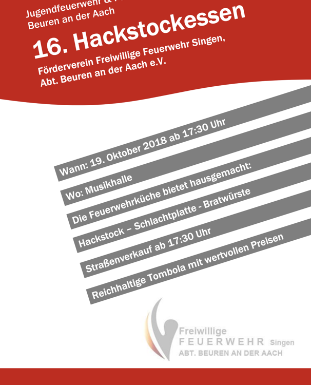 Einladung Hackstockessen 2018